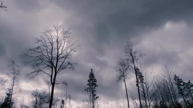 Time Lapse Of Stormy Clouds : Stock Video