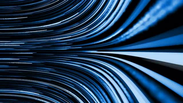 Blue Light Streaks Revolving Background: Stock Motion Graphics