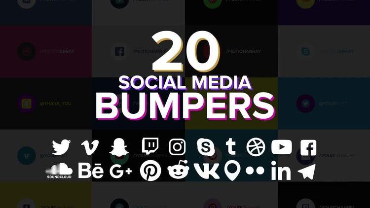 20 Social Media Bumpers: Motion Graphics Templates