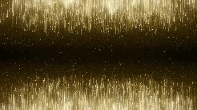 Gold Streaks And Particles Background: Stock Motion Graphics