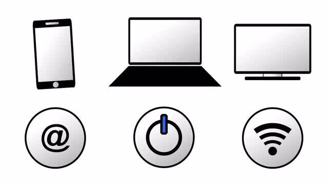 Animated Computer Icons Pack : Stock Motion Graphics