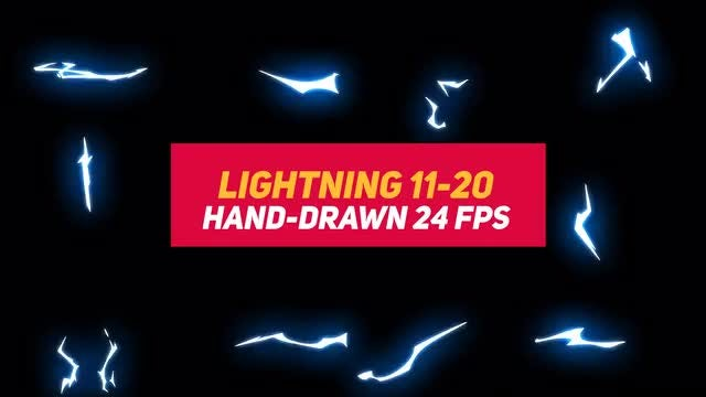 Liquid Elements 3 Lightning 11-20: Stock Motion Graphics