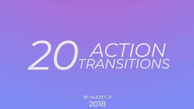 Action Transitions: Premiere Pro Templates