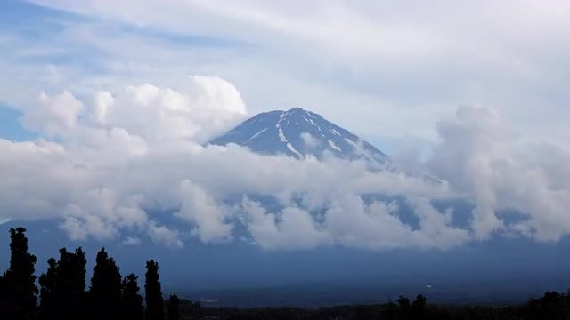 Time Lapse Of Fuji Mountain : Stock Video