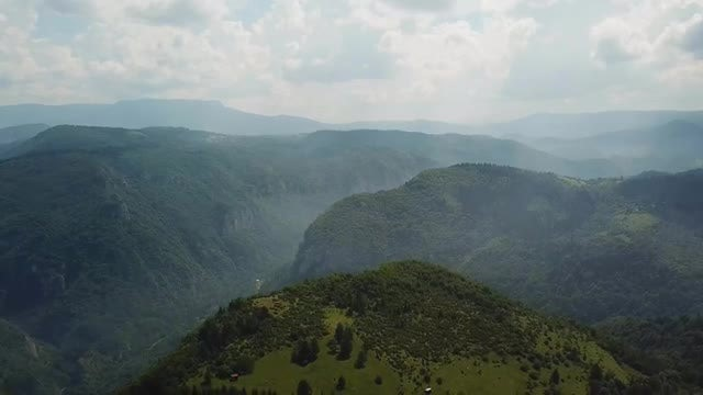 Aerial View Of Mountain Range : Stock Video