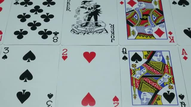 Close-up Shot Of Poker Cards: Stock Video