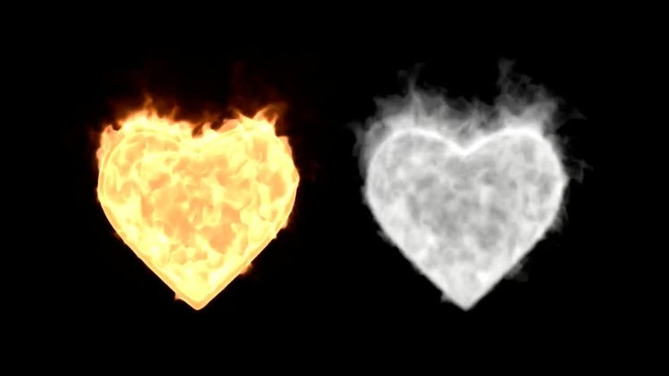 Burning Gold And Silver Hearts: Stock Motion Graphics