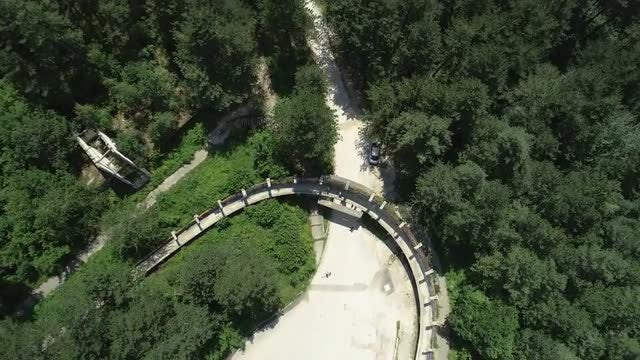 Aerial Shot Of Bobsleigh Track: Stock Video