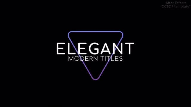 Elegant Modern Titles And Text: After Effects Templates