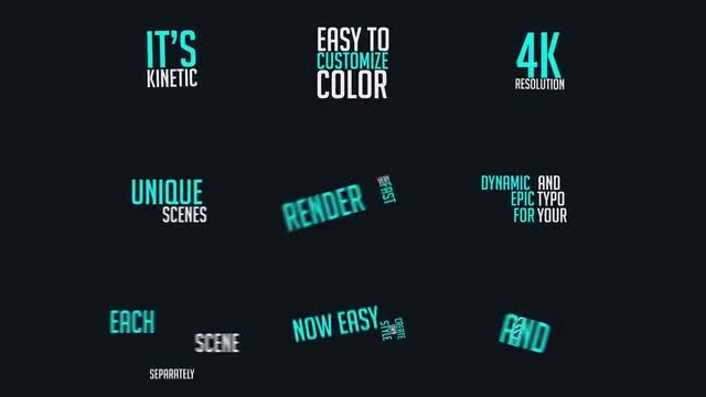 Dynamic Typography Vol 1 After Effects Templates Motion