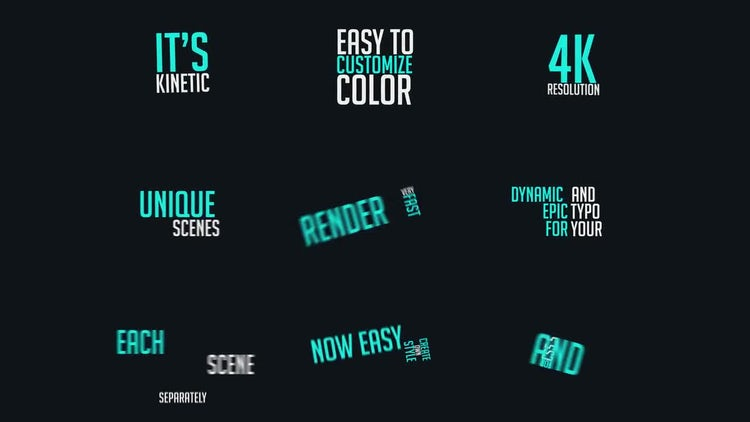 Dynamic Typography vol.1: After Effects Templates