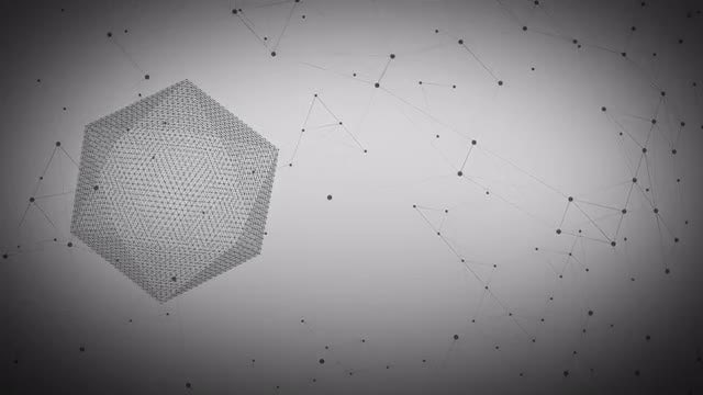 Math Network Background: Stock Motion Graphics