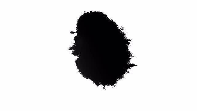 4k Ink Blots 03: Stock Video