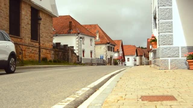 Cozy Houses In European Town: Stock Video