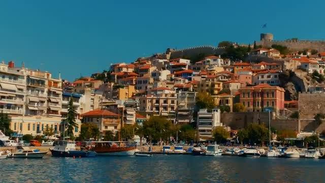 Greek Fishing Town: Stock Video