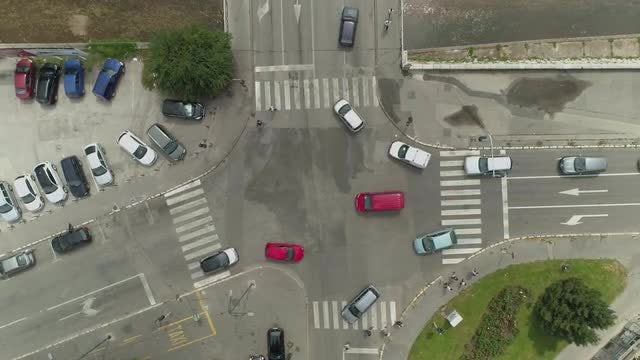 Crossroads At The Intersection: Stock Video