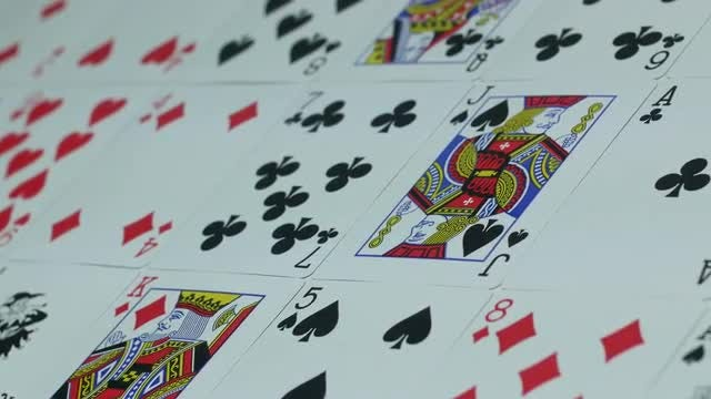 Cards Laid Out On Table: Stock Video