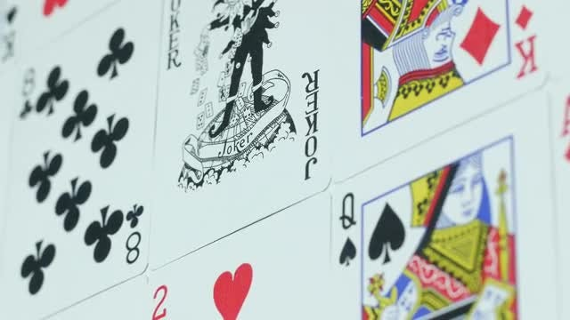 Playing Cards Laid Out: Stock Video