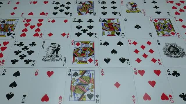 Playing Cards On Entire Table: Stock Video