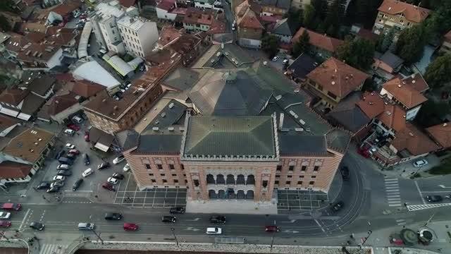 Sarajevo City Hall : Stock Video