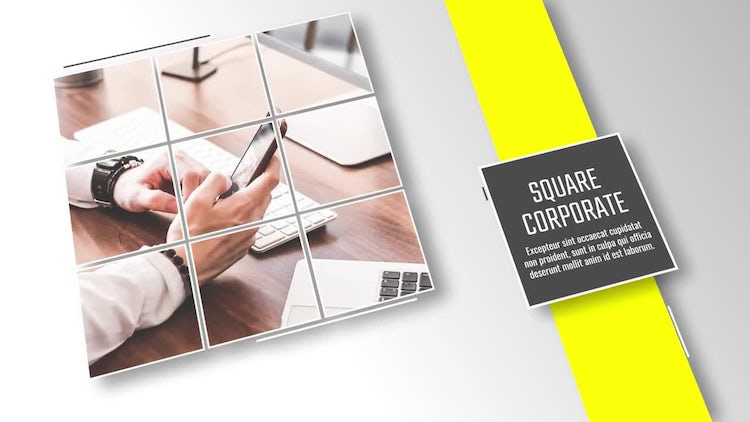 Square and Line - Presentation: After Effects Templates