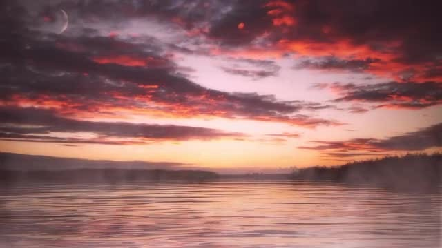 Purple And Orange Sunset Horizon: Stock Motion Graphics
