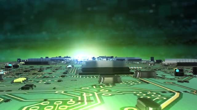 Circuit Board City Background: Stock Motion Graphics