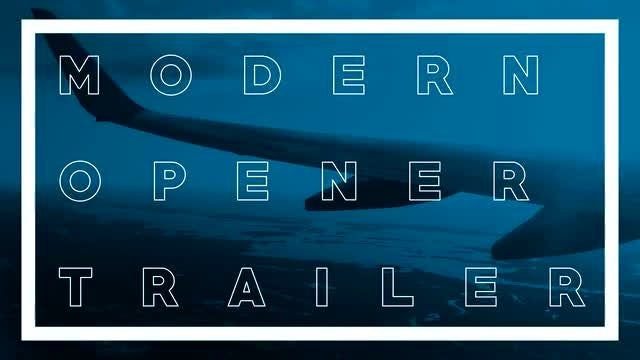 Modern Style Opener Trailer: After Effects Templates