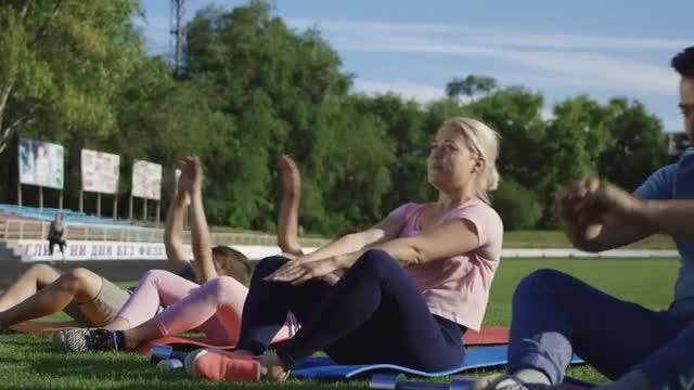 Family Working Out Together - Stock Video | Motion Array