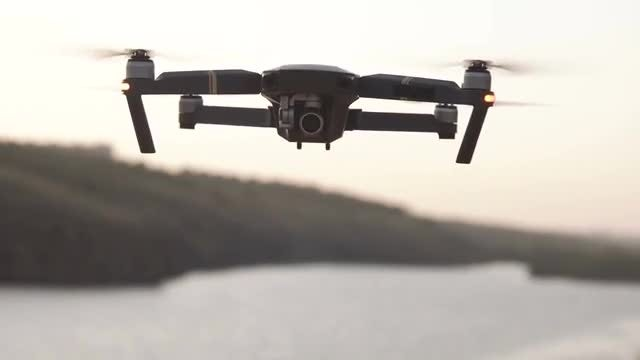 Flying Drone: Stock Video