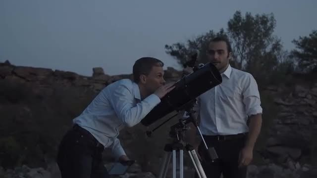 People Using A Telescope: Stock Video