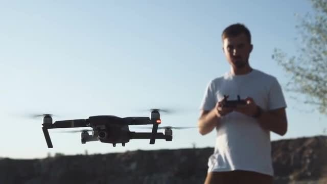 Man Using A Drone: Stock Video