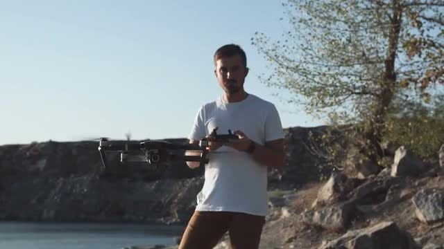 Professional Uses A Drone: Stock Video