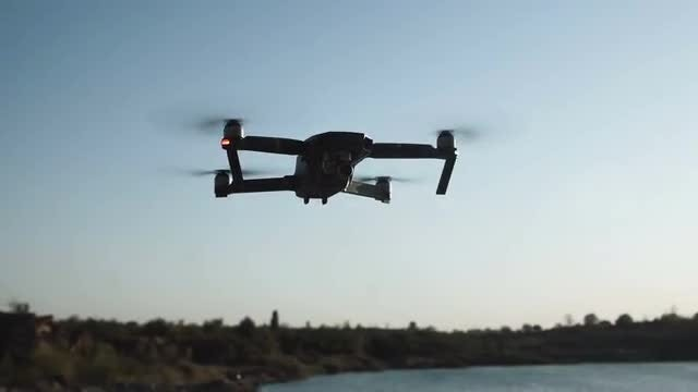 Flying Drone In Nature: Stock Video