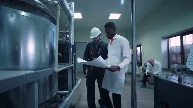 Experts In Chemical Plant: Stock Video