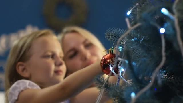 Hanging Ornamental Baubles: Stock Video