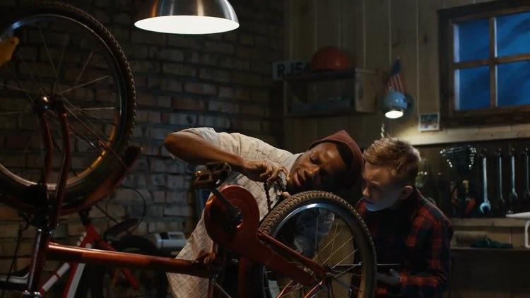 Teaching Bicycle Maintenance: Stock Video