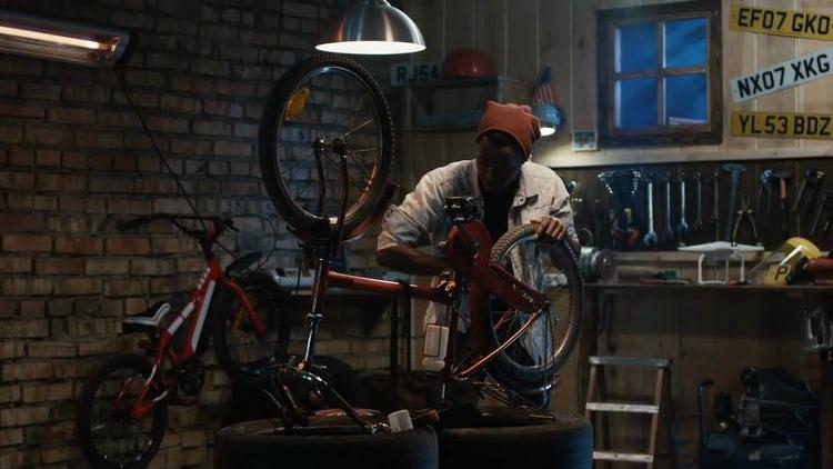 Repairing A Bike Pedal: Stock Video