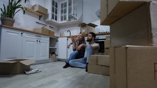 Couple Moving In: Stock Video