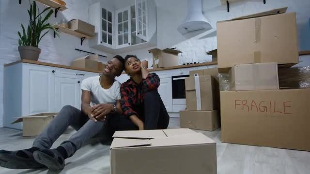 Couple In Their New Home: Stock Video