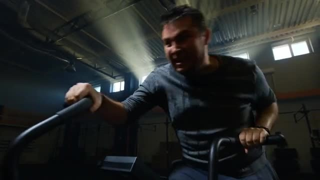 Overweight Man Exercising: Stock Video