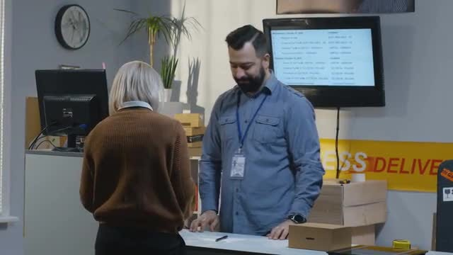 Delivery Center: Stock Video