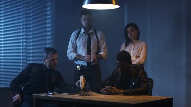 Drug Dealer Interrogation: Stock Video
