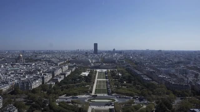 Champ De Mars Aerial: Stock Video