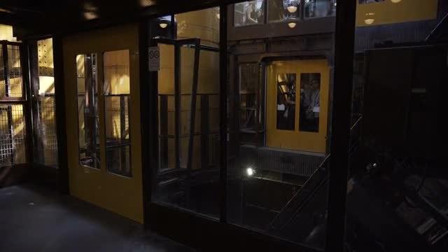 Elevator In EiffelTower: Stock Video