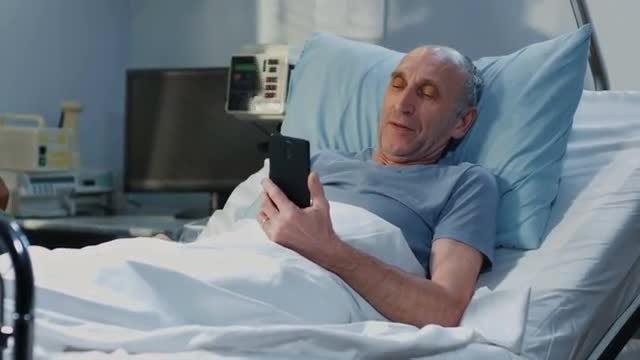 Patient On Video Call: Stock Video