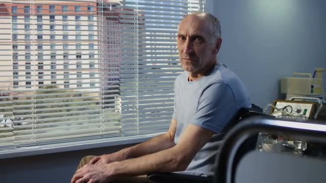Elderly Patient Portrait: Stock Video
