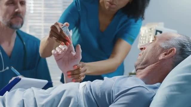 Doctor Visits Elderly  Patient: Stock Video
