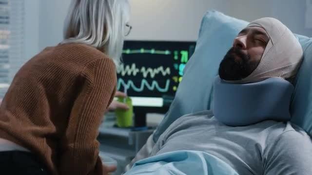 Feeding Injured Partner: Stock Video