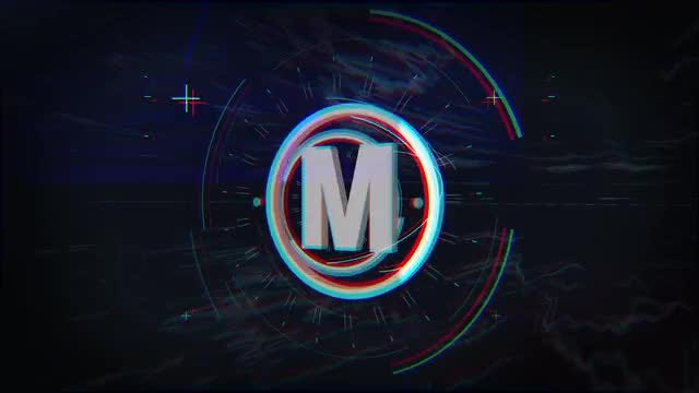 Glitch 3d Radial Logo: After Effects Templates